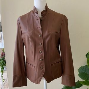 Brooks Brothers Women's Brown Leather Jacket
